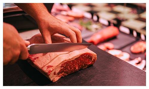 Fleisch schneiden