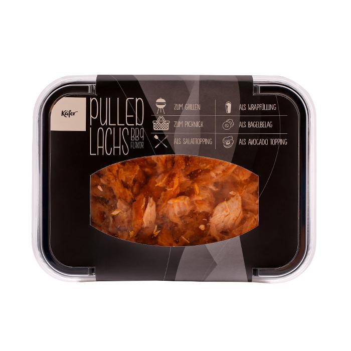 Pulled Lachs mit BBQ Gewürz