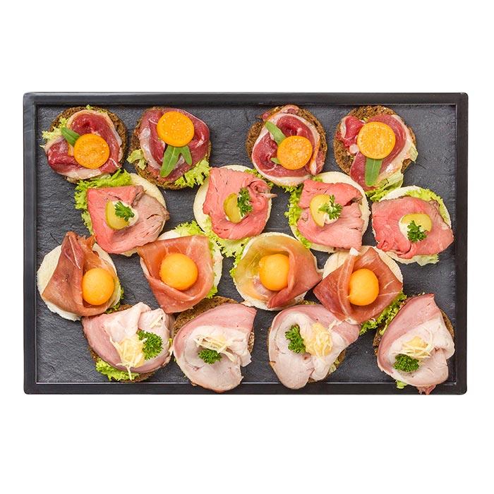 Canapé-Package Fleisch