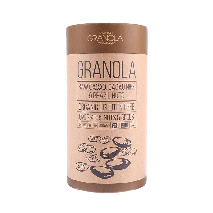 Bio Granola mit Kakao, Buchweizenkernen und Paranüssen