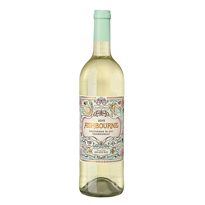 2019 Ashbourne Sauvignon Blanc Chardonnay, Walker Bay, Südafrika