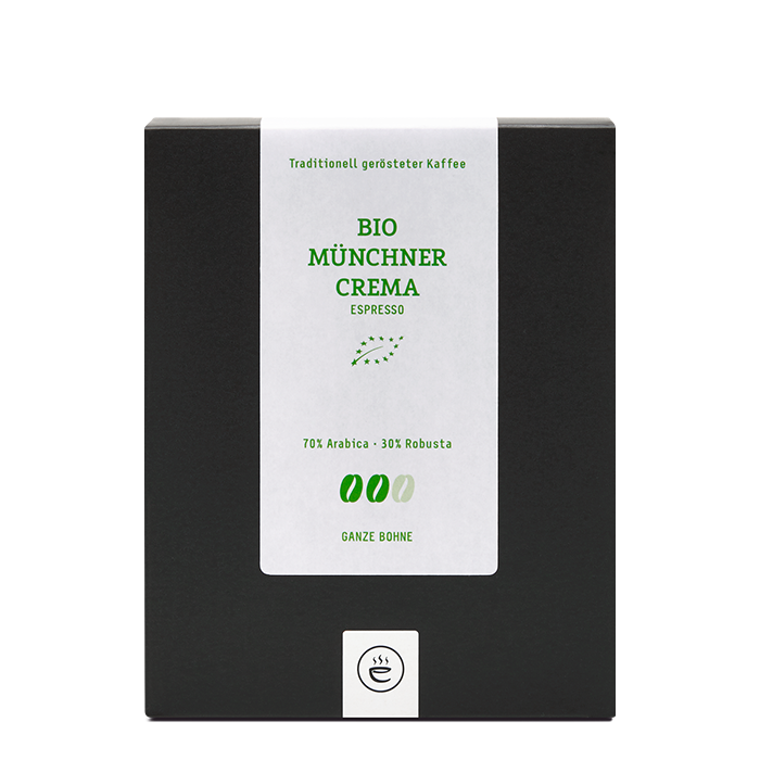 Bio Münchner Crema Espresso, ganze Bohne