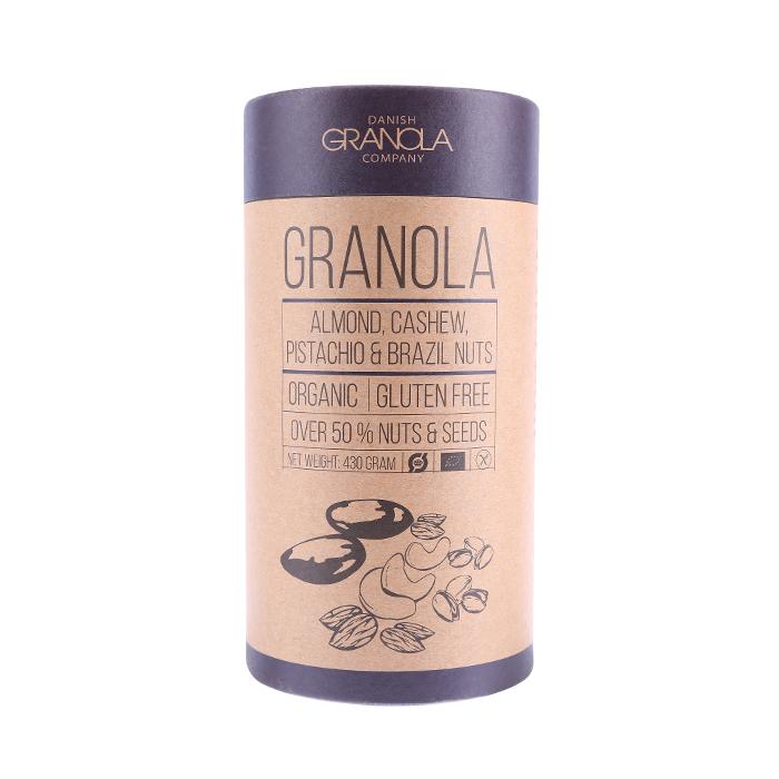 Bio Granola mit Mandel, Cashew, Pistazie & Paranuss