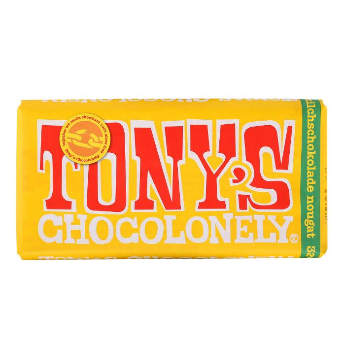 Toney's Chocolonely Schokoladen sind zu 100 % sklavenfreier Kakao.