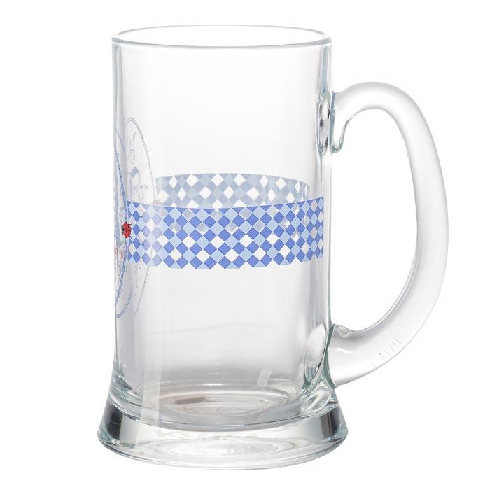 """Bayern Glaskrug """"K"""" 0,5 l"""