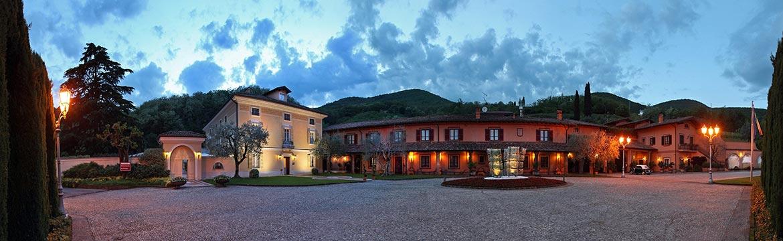 Ein lauer Sommerabend auf La Montina in der Franciacorta