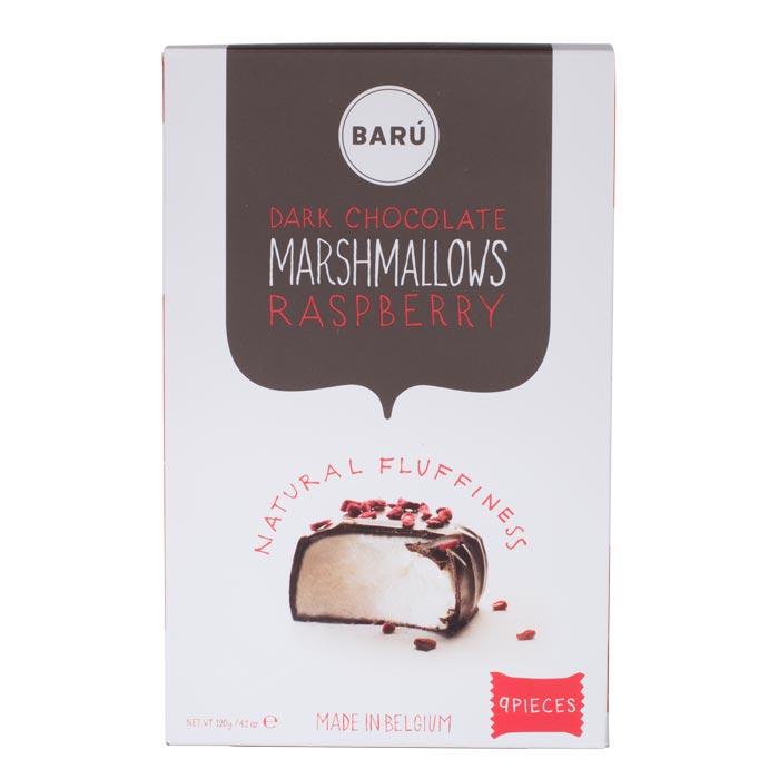 Dark Chocolate, Marshmallows, Raspberry
