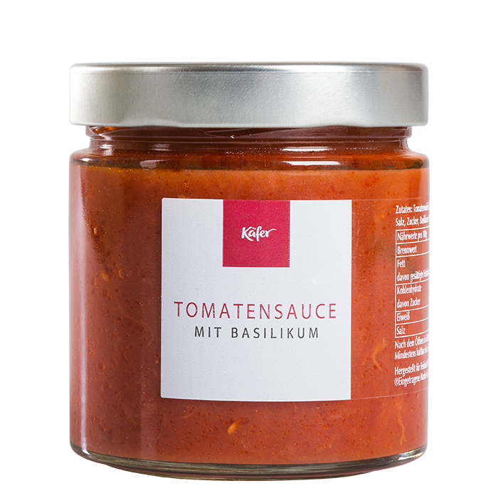 Tomatensauce mit Basilikum