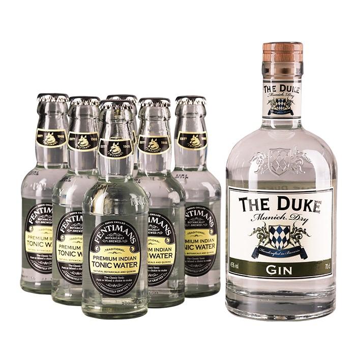 """Bestellen Sie das Gin & Tonic Set """"Gin o´clock"""" bequem online bei Feinkost Käfer. Sicher verpackt und schnell versandt!"""
