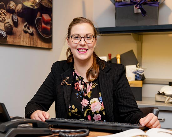 Katja Frey aus dem Präsente-Service