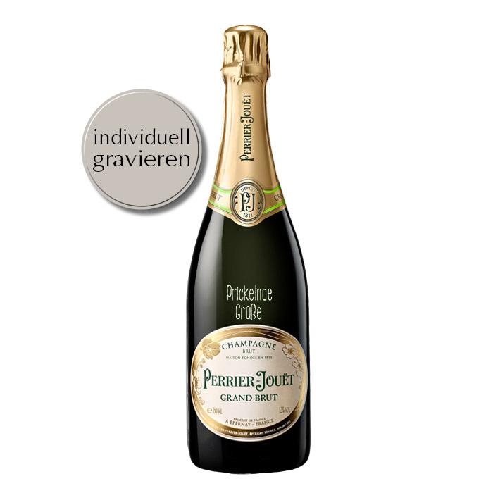 Grand Brut Champagner mit individueller Gravur von Perrier-Jouet
