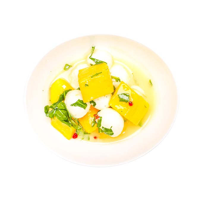 Mango-Mozzarella-Salat, hausgemacht