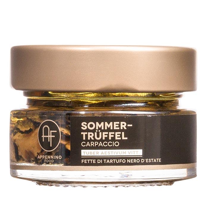 Sommertrüffel in Scheiben mit Olivenöl