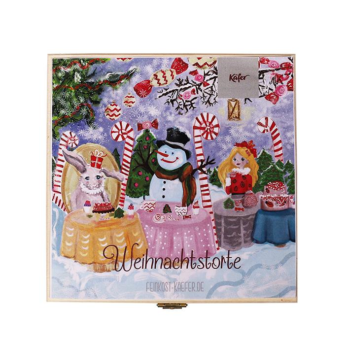 Weihnachtstorte in der Holzbox
