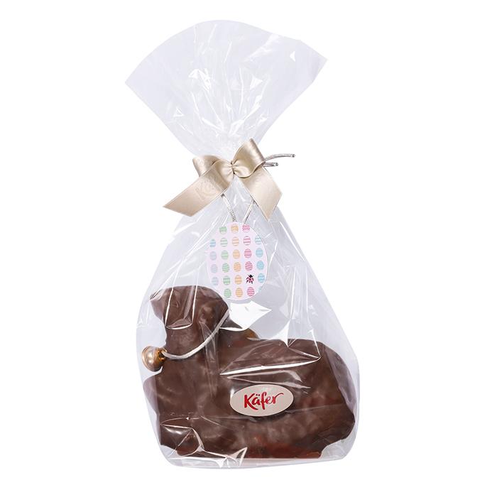 Osterlamm mit Zartbitterschokolade