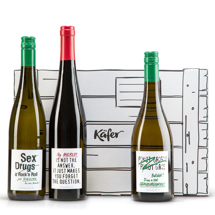 """Wein-Set """"Fancy Highlights"""" mit Geschenkkarton"""