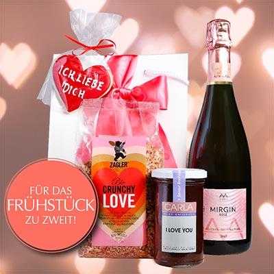Valentinstags-Set FRÜHSTÜCK ZU ZWEIT