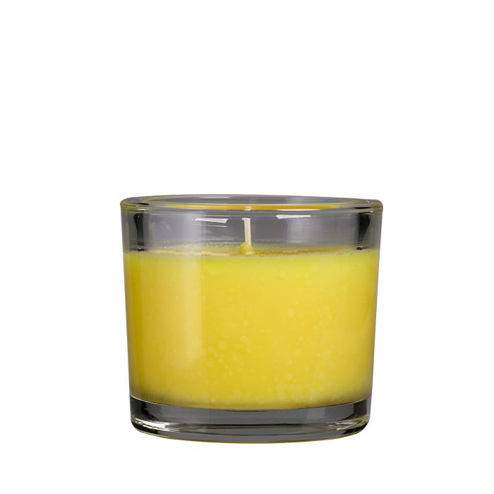 Duftkerze im Glas, gelb