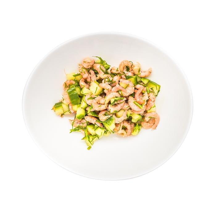 Nordseekrabbensalat mit Gurke, hausgemacht
