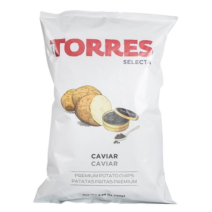Kartoffelchilps mit Kaviar