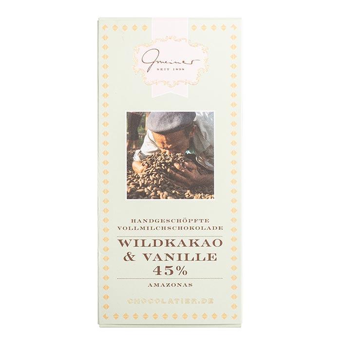 Wildkakao Sckokolade mit Vanille