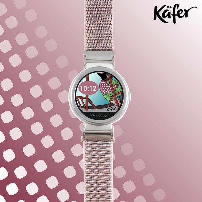 Uhr Pingonaut Puma mit Nylonband, graupink