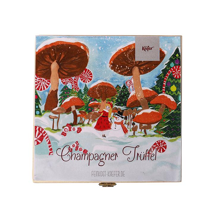 Käfer Champagner Trüffel in der Holzbox jetzt online kaufen!