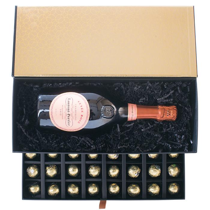 Geschenkbox mit Laurent-Perrier Rosé