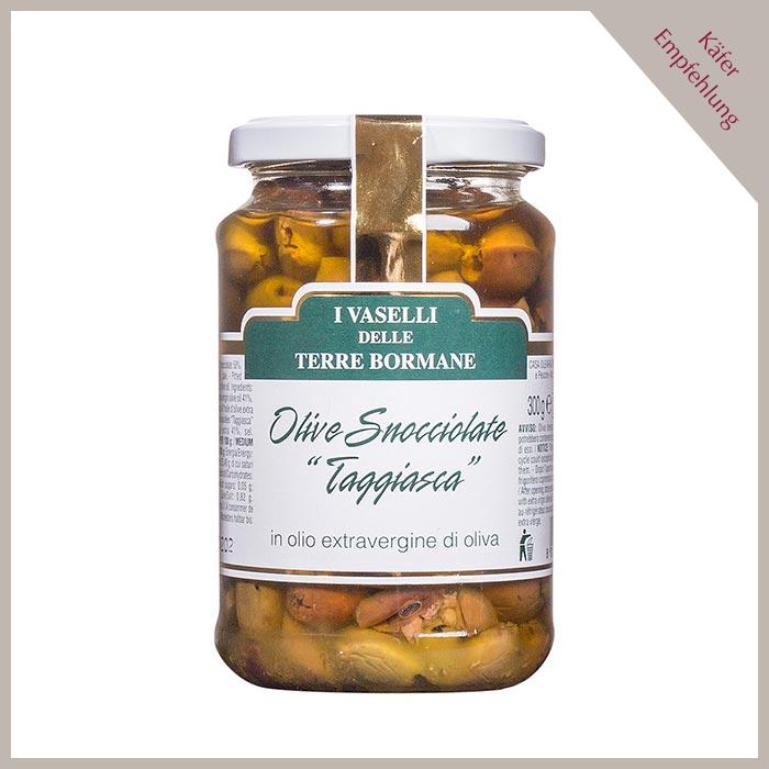 Oliven Snocciolate Taggiasca