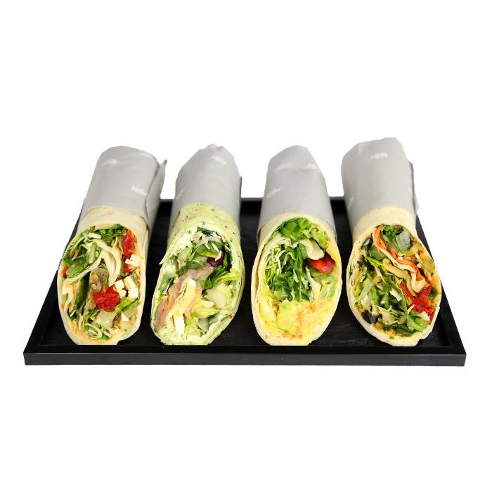 Hausgemachte Wraps Couscous / Mediterranes Gemüse / Rucola