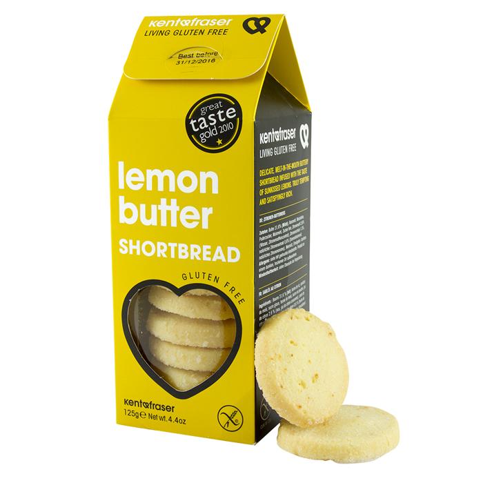 Zitronen Buttergebäck, glutenfrei, Lemon Butter Shortbread