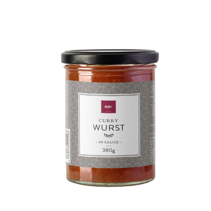 Curry-Wurst im Glas