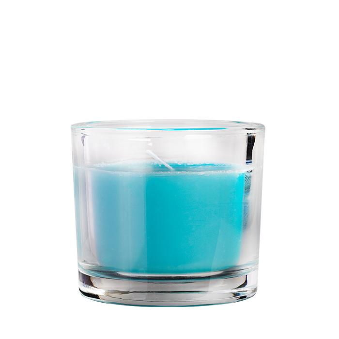 Duftkerze im Glas, blau