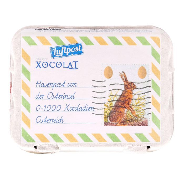 »Hasenpost« Schokoladen Eier