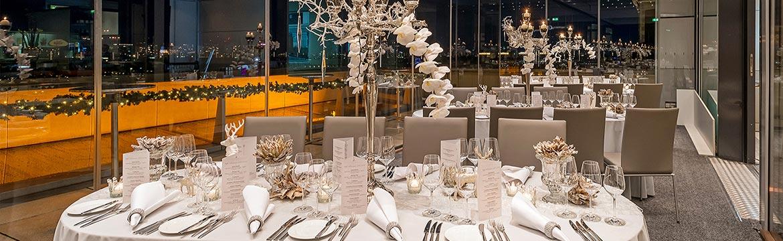 Silvester Gala Dinner im DACHGARTEN RESTAURANT Berlin