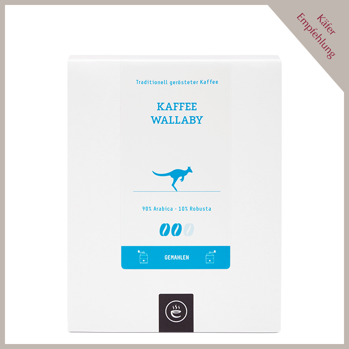 Kaffee Wallaby, gemahlen