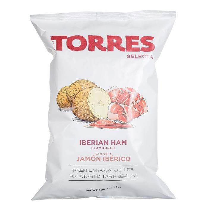 Kartoffelchips mit spanischem Schinken
