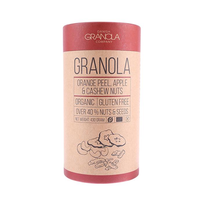 Bio Granola mit Orangenschale, Apfel & Cashew