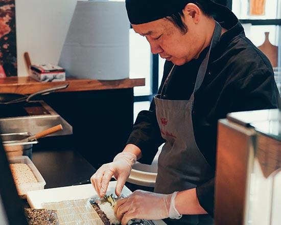 Sushi Pop-Up im Käfer Stammhaus
