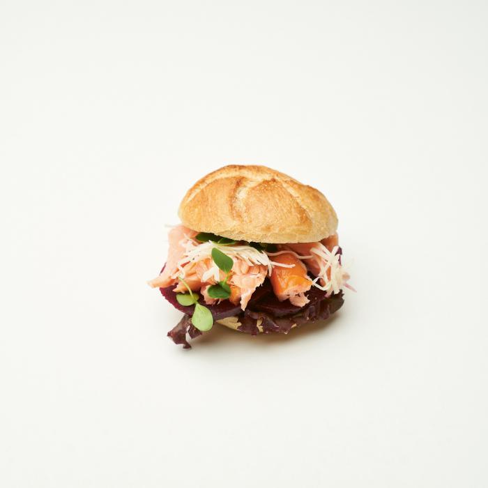 Pulled BBQ Stremel Lachs Bio-Minisemmel