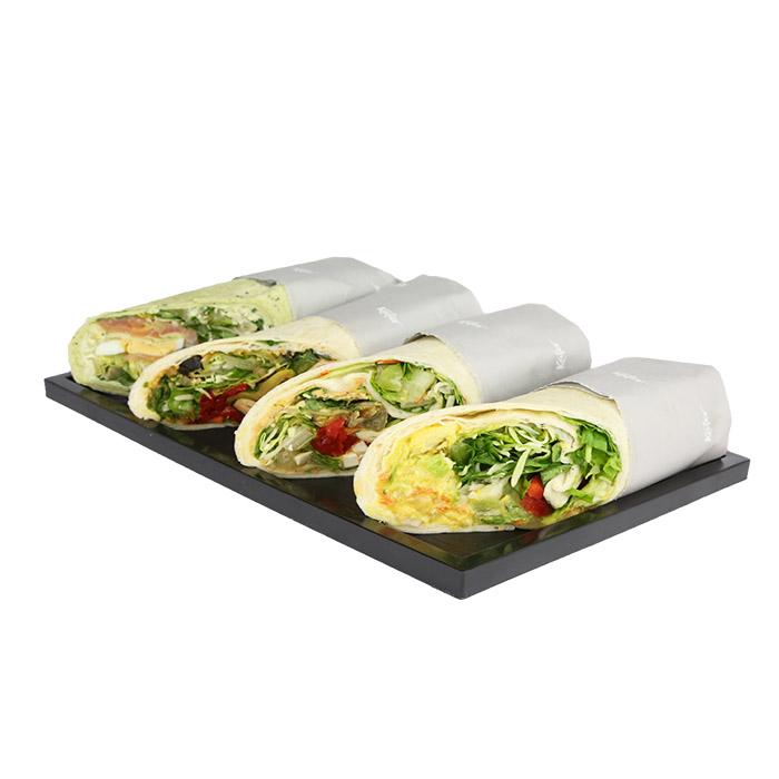 Hausgemachte Wraps Räucherlachs / Wasabi / Frischkäse