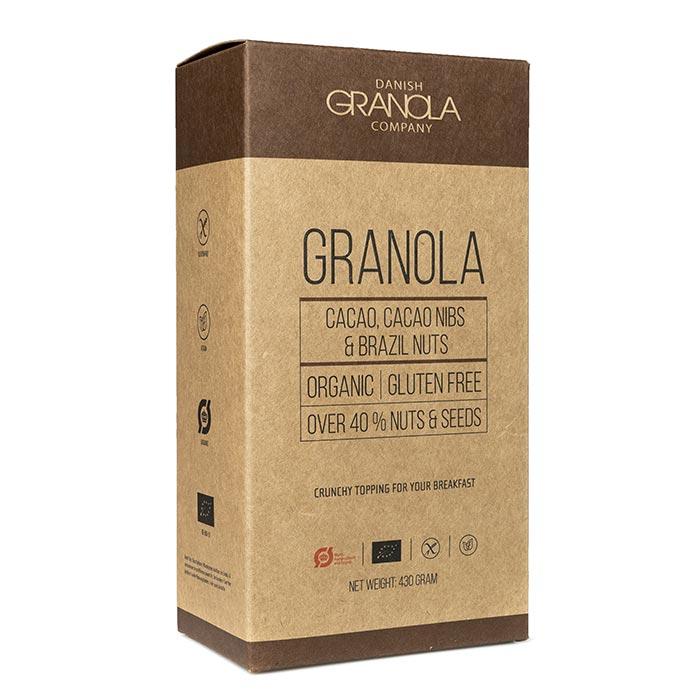 Granola mit Kakao, Paranuss und Buchweizenkernen