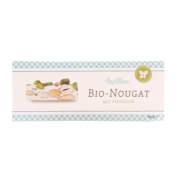Bio Nougat mit Pistazien