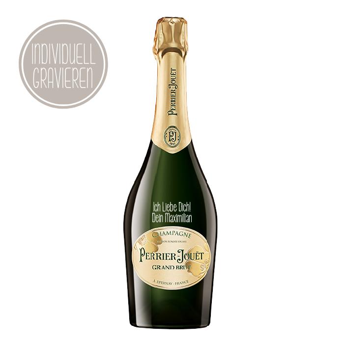 Grand Brut Champagner mit individueller Gravur