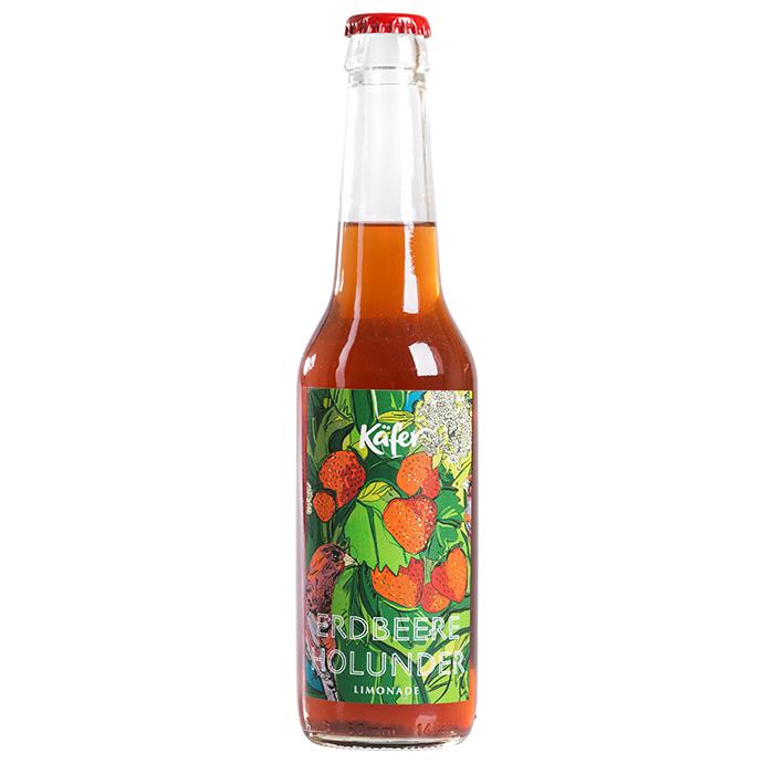 Erdbeere Holunder Limonade