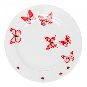 Mustermix Speiseteller Schmetterling, Ø 28 cm