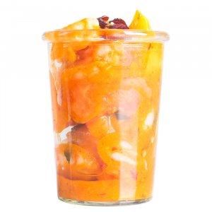 Garnelen Salat mit Mango und Papaya