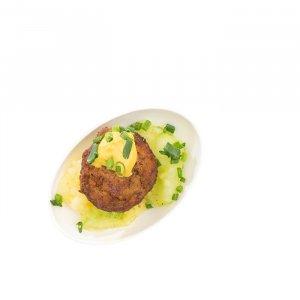 Mini Kalbfleischpflanzerl mit Kartoffelsalat