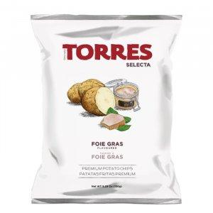 Kartoffelchips mit Foie Gras