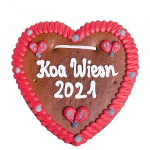 """Lebkuchenherz """"Koa Wiesn 2021!"""